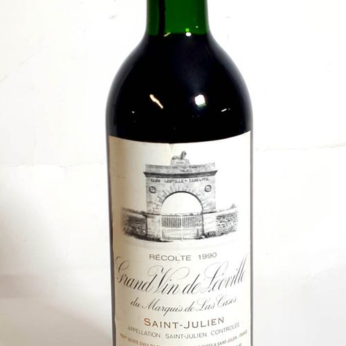1 B CHÂTEAU LEOVILLE LAS CASES (B.G., etls, ctla) St Julien GCC 1990