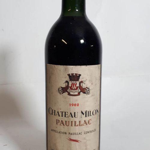 1 B CHÂTEAU MILON, H. Seurin (T.L.B, efs, cs) Pauillac 1962