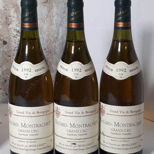 3 B BATARD MONTRACHET GRAND CRU (2etla, 1contre ela) Moillard 1992