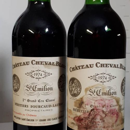 2 B CHÂTEAU CHEVAL BLANC (1Bon N. 1B.G. 1ets, 1es, 1cLa) St Emilion 1erGCC 1974