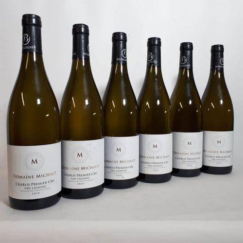 6 B CHABLIS 1er CRU VAU LIGNEAU (etls, 1ela, 1cla) Michaut Frères 2018