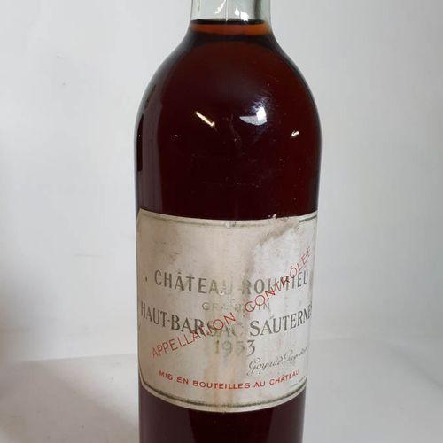 1 B CHÂTEAU ROUMIEU (B.G+, ss liège 50 mm, etfs, cs) Ht Barsac Saut. 1953