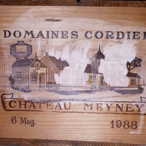 6 magnum CHÂTEAU MEYNEY CBO (2B.G à mieux, elf, 2ca écorchées) St Estèphe 1988