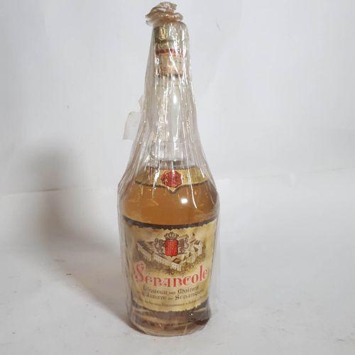 """1 B LIQUEUR DES MOINES jaune """"SENANCOLE"""" 40° Abbaye de Sénanque Avant 1969"""