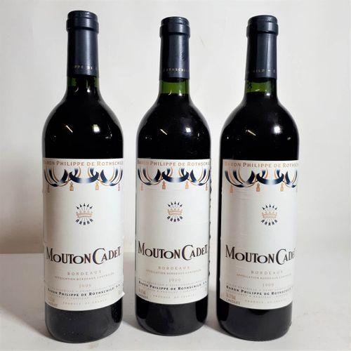 3 B MOUTON CADET de Baron P. De ROTHSCHILD (*) Bordeaux 1999