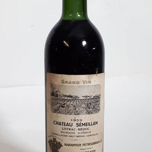 1 B CHÂTEAU SEMEILLAN (TLB+, ets, cs, cla), Hanappier P. Listrac 1959