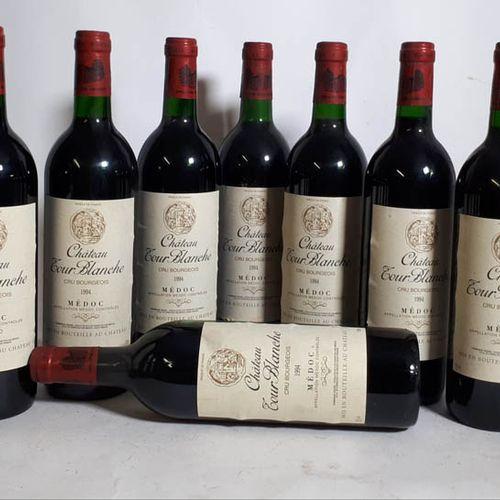 12 B CHÂTEAU TOUR BLANCHE rouge (3B.G+, etls, ctls) Médoc 1994