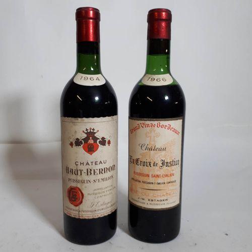 "2 B Duo rouge ""sixties"" 1B Cht Ht BERNON (TLB, es,cs)  1B Cht LA CROIX des JUSTI…"