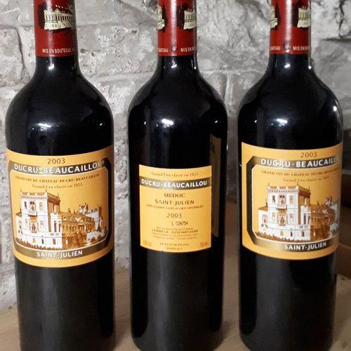 3 B CHÂTEAU DUCRU BEAUCAILLOU (contre ela) St Julien GCC 2003