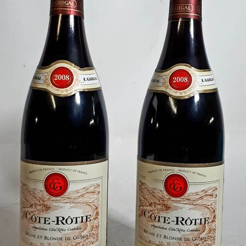 2 B COTE ROTIE (ctla frottement) Dom. Guigal 2008