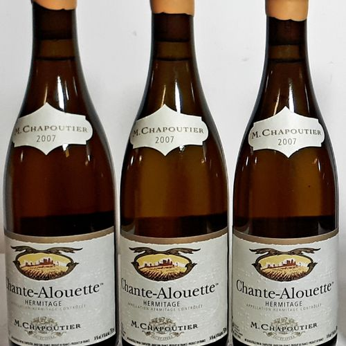 "3 B HERMITAGE blanc ""Chante Alouette"" (*) Chapoutier 2007"