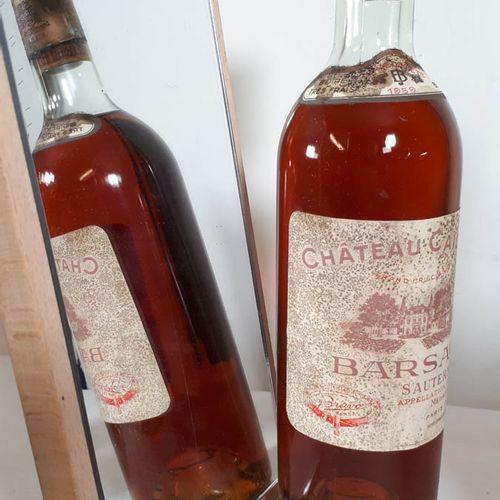 1 B CHÂTEAU CAILLOU Crème de tête (N. 3cm, efs, cc bas cylindre ) Barsac GCC 195…