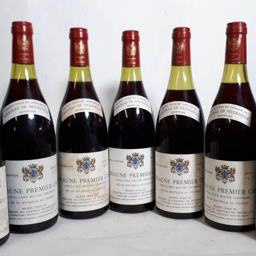 7 B BEAUNE 1ER CRU (1N. 4cm & 1N. 5cm, 4 efs, 1clc) Château de Meursault 1976