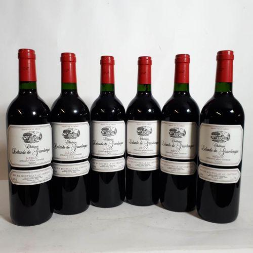6 B CHÂTEAU LALANDE DE GRAVELONGUE ( etla) Médoc 2000