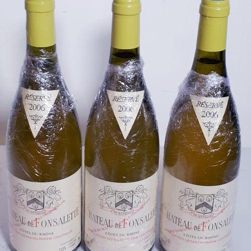 3 B CHÂTEAU DE FONSALETTE blanc (*) Cht Rayas 2006