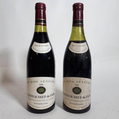 """2 B CHATEAUNEUF DU PAPE """"Bois Sénéchal"""" (1B.E, 1ets, 1cs) Dom. Nalys 1976"""