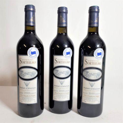 3 B DOM. SORTEILHO, Syrah, cave des vignerons (els, contre etla) St Chinian 2000