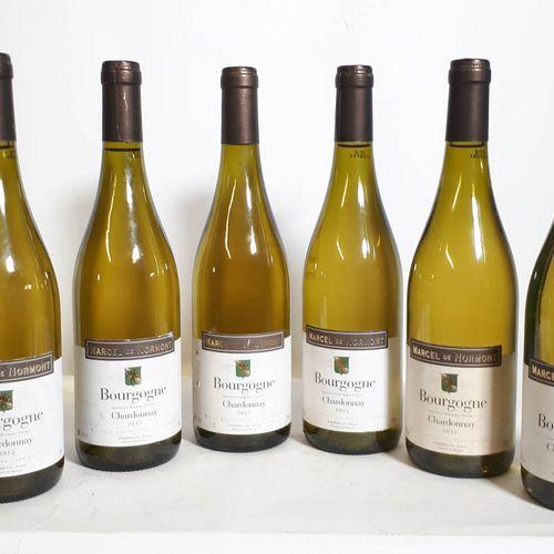 6 B BOURGOGNE Chardonnay (efs, 1ea) Marcel De Normont 2015