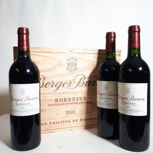 3 B BERGER BARON de P. De ROTHSCHILD CBO (*) Bordeaux 2001
