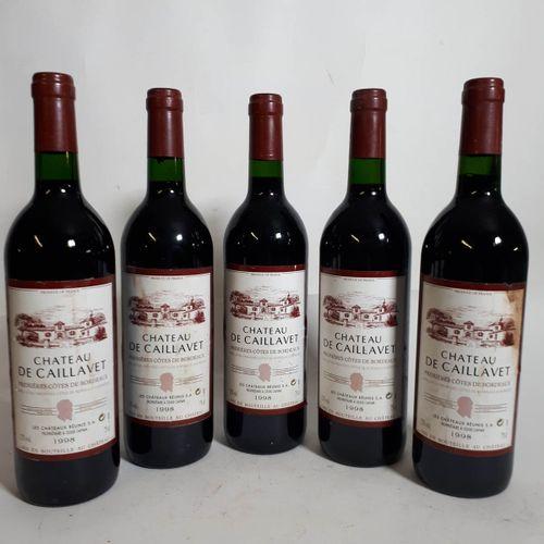 5 B CHÂTEAU CAILLAVET (es, 1 ets, cs) 1ère Cotes Brdx 1998