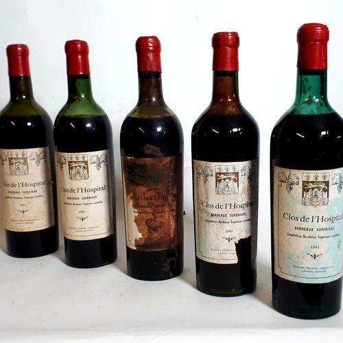 5 B CLOS DE L'HOSPITAL (1M.E, 4B.E, efs, 2eta, ca) Bordeaux Sup. 1961