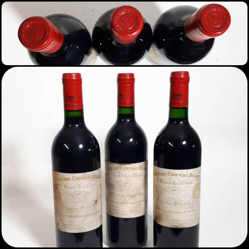 3 B CHÂTEAU CHEVAL BLANC (Bons N., etfs, 1ctla) St Emilion 1erGCC(A) 1990