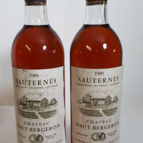 2 B CHÂTEAU HAUT BERGERON (2T.L.B, efs, ca, 1cc) Sauternes 1985