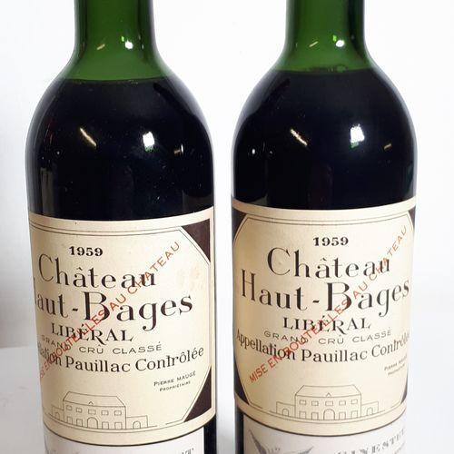 2 B CHÂTEAU HAUT BAGES LIBERAL (H.E+B.E, ctla) Pauillac GCC 1959