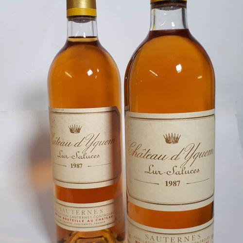 2 B CHÂTEAU D'YQUEM (1B.G à mieux, 1els, 1ctla) 1e G.C.C. Sauternes 1987