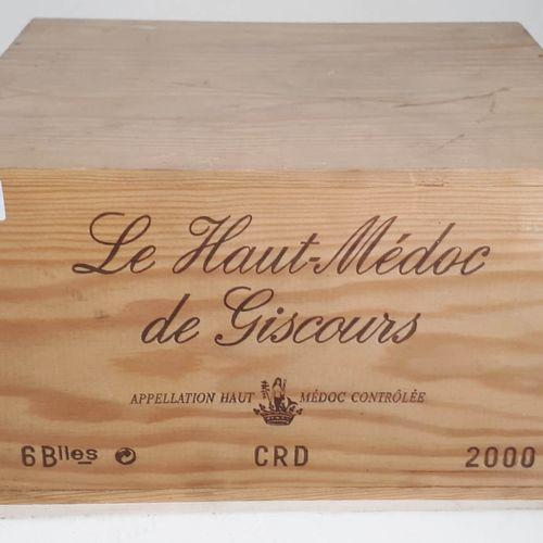 6 B HAUT MEDOC de GISCOURS CBO (1ctla) Ht Médoc 2000