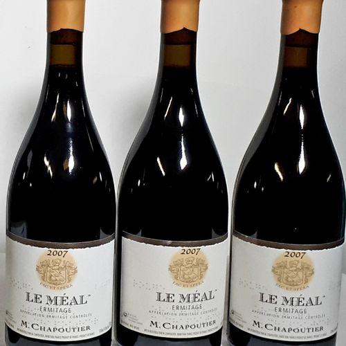 """3 B LE MEAL"""" ERMITAGE rouge (etlf) Chapoutier 2007"""