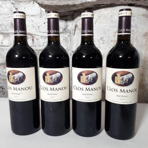 4 B CLOS MANOU (*) Médoc 2009