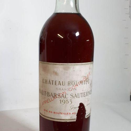 1 B CHÂTEAU ROUMIEU (T.L.B. Ss liège 50mm, etfs, ea, cs) Ht Barsac Saut. 1953