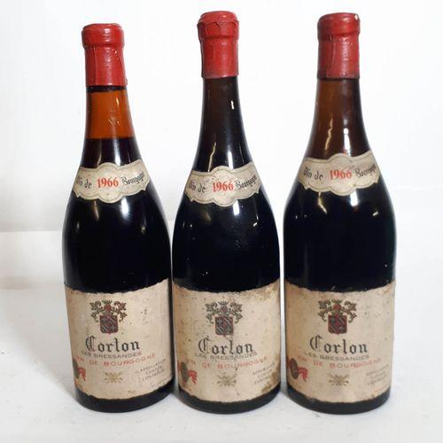 3 B CORTON LES BRESSANDES (Niv. De 3,5 à 5,7cm, ets, cs, 1ca) mise Belge Bourgog…