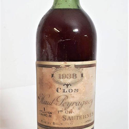 1 B CLOS HAUT PEYRAGUEY (TLB, es, ela, cla frottmt) Sauternes 1erGCC 1938