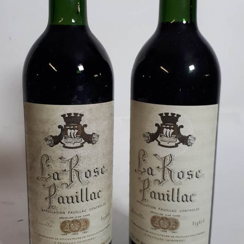 2 B LA ROSE PAUILLAC ( B.G, efs, ca) Pauillac 1964