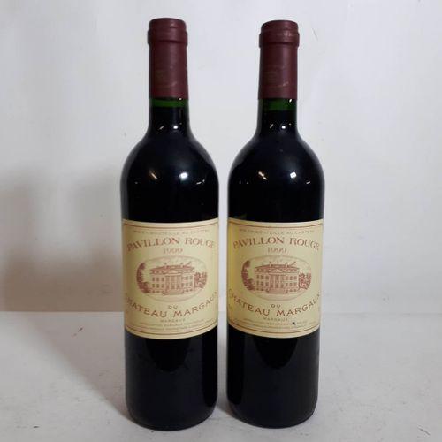 2 B PAVILLON ROUGE de Château Margaux (1etla, 1cla) Margaux 1999