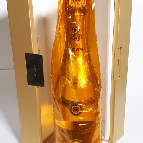 1 B CRISTAL ROEDERER (*), coffret d'origine CHAMPAGNE G.Cuvée 2008