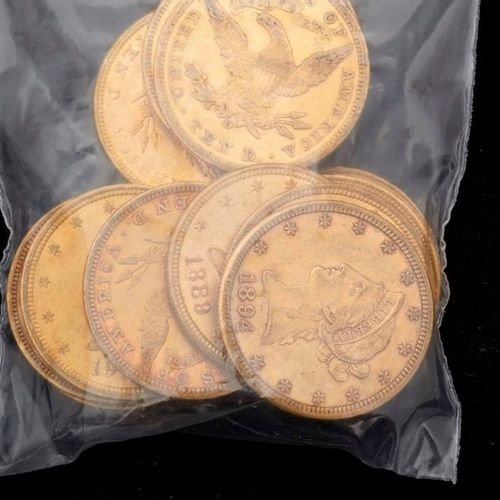 1 15 x 10 US Dollars or, dont 1894 S, 1903 O, 1914 D, 1881S x 4, 1882 S, 1889S, …