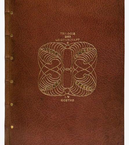 BUCHWESEN. – Einbände. – Monogrammiert L E. – J. W. Von Goethe. Trilogie de la P…