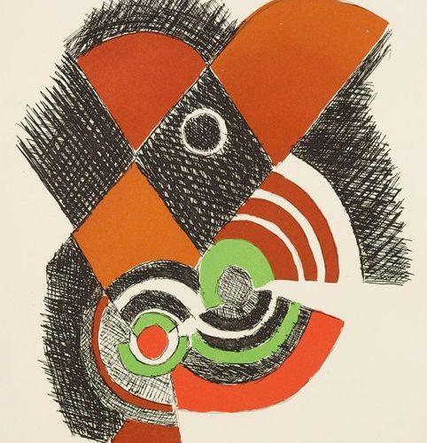 Delaunay. – Tristan Tzara. Juste présent. Paris, La rose des vents, 1961, Fol. C…