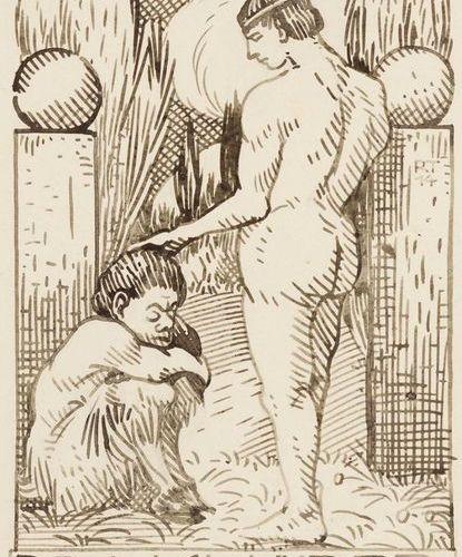 EXLIBRIS. – Originalentwürfe, Exlibris en dessin de foire, 10 (8 feuilles signée…