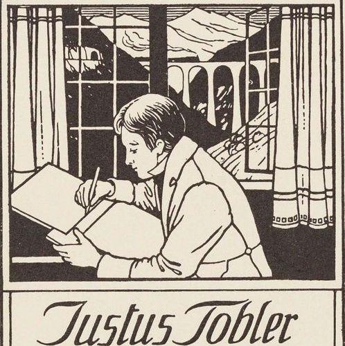 EXLIBRIS. – Friedrich Georg Tobler. 58 Bll. Exlibris, 28 sculptures sur bois Pro…