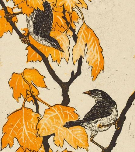 Klemm, Walther (1883 1957). Les oiseaux. Weimar, Reiher Verlag, 1922. 6 feuilles…
