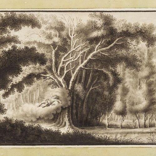 Lane, Anna Louisa (actif 1769 1795). Cupidon au repos, planant sur un nuage. Des…