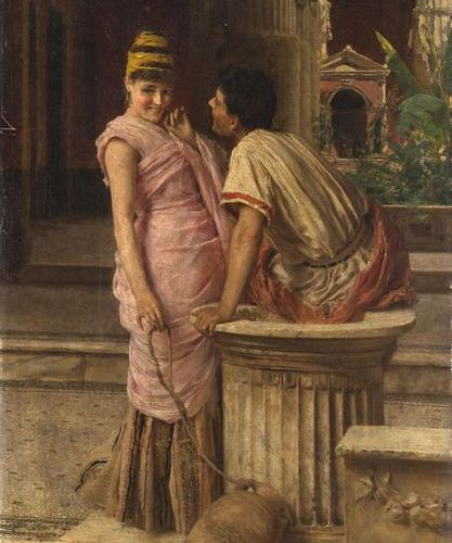 Muzzioli, Giuseppe (1854 1894). A la fontaine. Huile sur toile, signée G. Muzzio…