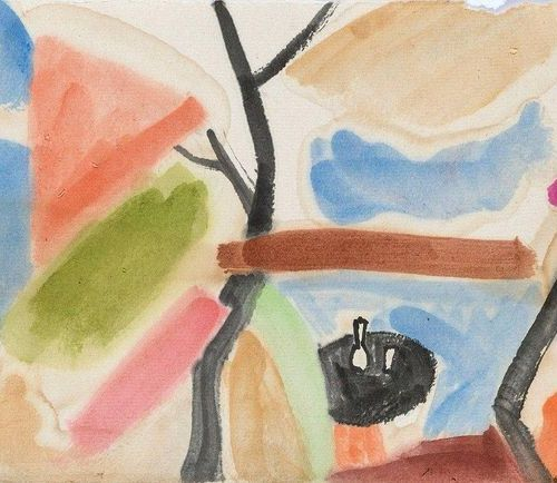 Nagel, Otto (1894 1967). Colour study. Watercolour, signed and dated 1931. Verso…