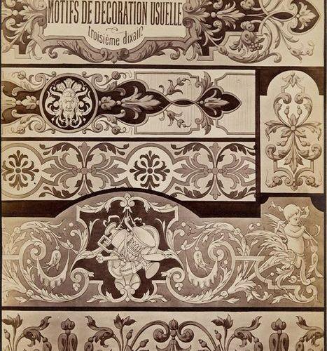 Ornament. – Vorlagen. – Eugène Christy. Motifs de Décoration Usuelle ... Composi…