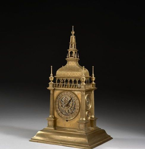 CLOCK TO BE FITTED TO THE HOUR AND QUARTER RING The movement circa 1600, the cab…