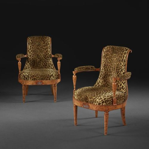PAIR OF NEOCLASSICAL AUSTRIAN ARMCHAIRS
